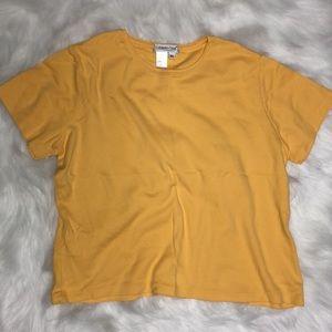 Yellow Coldwater Creek shirt